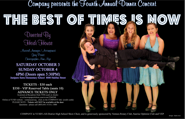 VUSD All District Show Choir COMPANY poster