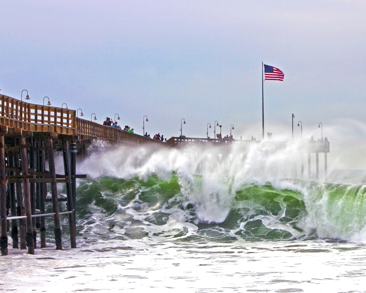 Ventura Pier and some monster waves